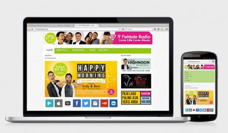 Web Design FeMale Radio 2014 by Irdiansyah