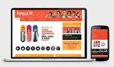Web Design Female Radio 2020 by Irdiansyah