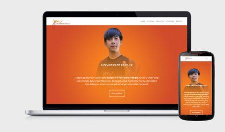 Web Design JanganMenyerahIndonesia by Irdiansyah